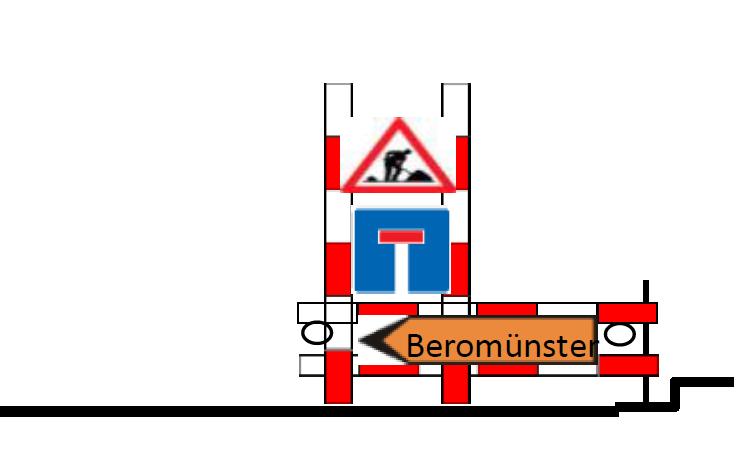 Baustelle 1 - Totalsperrung Surseestrasse vom 10. bis 12. Oktober 2018