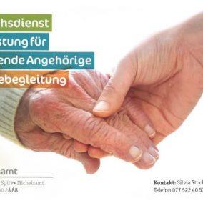 Flyer Besuchsdienst 284x284 - Besuchsdienst, Entlastung für pflegende Angehörige, Sterbebegleitung