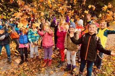 Herbstspaziergang 14.11.2019 02 386x257 - Waldspaziergang 1./2.Klasse C
