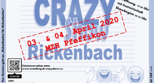 Crazy Show 527x286 - Verschiebedatum Crazy Show