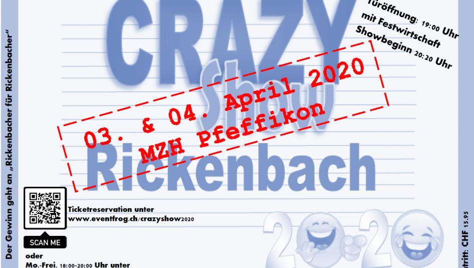 Crazy Show 946x535 - Verschiebedatum Crazy Show