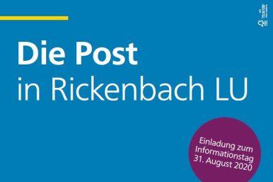 Post 386x257 - Post Rickenbach: Einladung zum Informationstag vom 31. August 2020